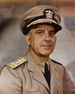 Daniel E. Barbey - Image: Vice Admiral Daniel E. Barbey, US Navy, on 23 July 1945