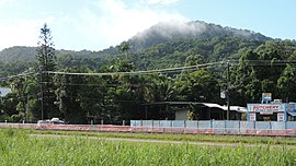 View across the Cairns-to-Kuranda railway line towards Freshwater, Cairns, 2018.jpg