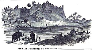 Jaunpur, Uttar Pradesh - Image: View at Juanpore, on the River Ganges (IV, June 1847, p.60) Copy