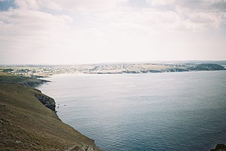 Pentire Head - Image: View from pentire point