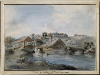 View from the Bernshammar Sawmill