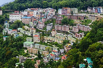 View of Gangtok City from Crown Prince Tenzing Kunzang Namgyal Walkway.jpg