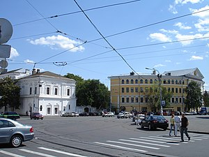 View of NaUKMA from Kontraktova square.JPG