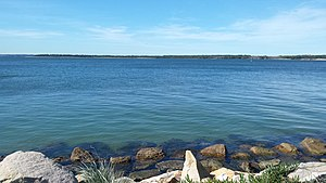 Towra Point Nature Reserve - Looking across towards Towra Point Nature Reserve from Sandringham, New South Wales.