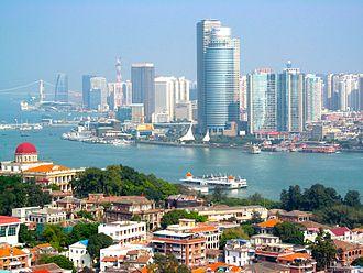 Carte Chine Xiamen.Xiamen Wikipedia