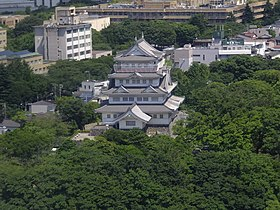 View of the Chiba City Folk Museum from Chiba Prefectural Government Office Main Building.jpg