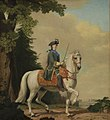 "Vigilius Eriksen - Catharina II of Russia in Life Guard Uniform on the horse ""Brillante"" - KMS3633 - Statens Museum for Kunst.jpg"
