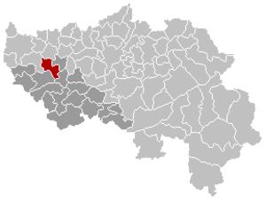 Villers-le-Bouillet - Image: Villers le Bouillet Liège Belgium Map