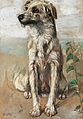 Vincenzo Gemito Sitzender Hund 1913.jpg