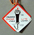 "Vintage ""Phone Lite 1929"" Novelty Cigarette Lighter By Prince, Shaped Like An Old Candlestick Phone, Made In Japan (12623099185).jpg"