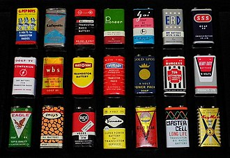 Nine-volt battery - Vintage PP3-size 9-volt batteries