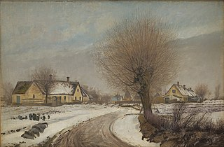 A Sealand Village. Winter