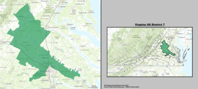 Virginia's 7th congressional district - since January 3, 2013.