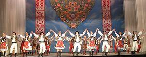 A performance of a traditional Ukrainian dance by Virsky dance ensemble