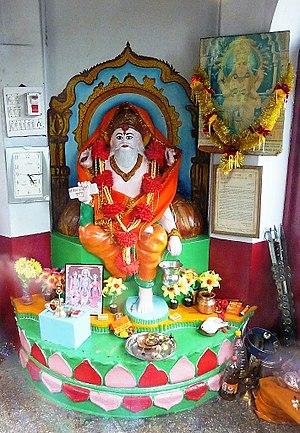 Vishvakarman - Vishwakarman statue in temple, Mandi, Himachal Pradesh, India.