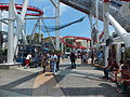Visitor Walking under Battlestar Galactica - Human vs. Cylon, Universal Studios Singapore 20130209.jpg