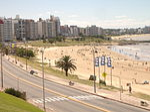 Maritime promenade La Rambla of the city of Montevideo