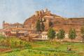 Vista de cidade com castelo (Leiria?) - Ernesto Condeixa.png