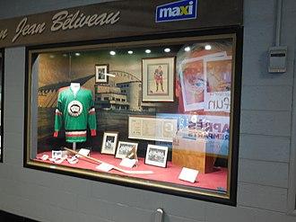 Jean Béliveau - Béliveau memorabilia inside Colisée Pepsi.