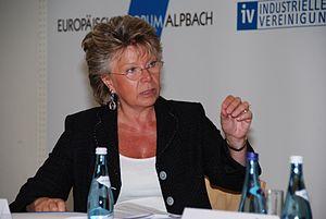 Deutsch: Viviane Reding auf dem Europäischen F...