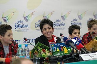 Junior Eurovision Song Contest - Image: Vladimir Arzumanyan JESC 2010