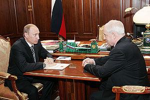 Sergey Lebedev (politician) - Vladimir Putin (l) and Sergei Lebedev, April 2008