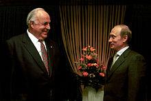 Kohl con Vladimir Putin nel 2000