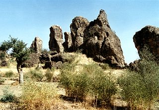 Volcanic outcroppings in kapsiki country.jpg