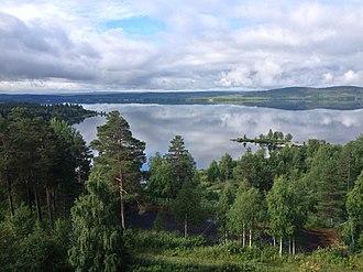 Vilhelmina Municipality - Looking across Volgsjön on a summer morning.