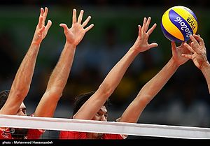 Volleyball, match between Iran and Egypt at the Olympic Games in 2016 20.jpg