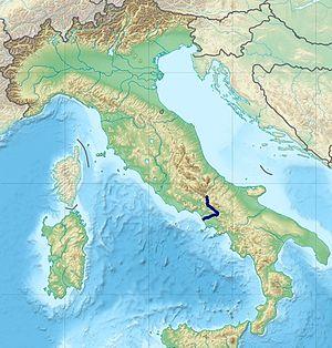 Volturno - Image: Volturno River Route
