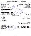 Vonatjegy 142 Kecskemét-Lajosmizse 2933 2009-12-12.jpg