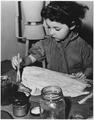 WPA, FAP, pre-school age girl painting, Walker Art Center, Minneapolis, Minnesota - NARA - 196149.tif