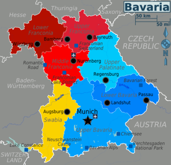 eastern state capitals with Regions Of Bavaria on List Of Countries And Capitals With Currency And Language Wikipedia The Free Encyclopedia furthermore South Africa additionally Map Of Northern Europe moreover Clipart Usa Canada Time Zone Map likewise Dn Postcode Map.