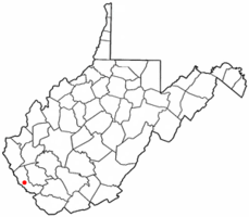 Location of Delbarton, West Virginia