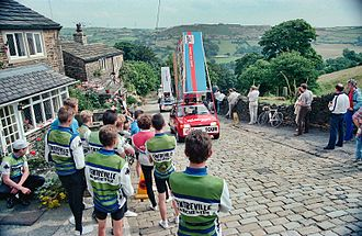 Tour of Britain - The caravane before the race passed near Halifax