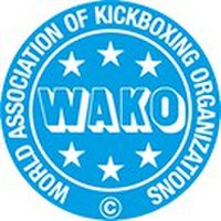 A poster or logo for W.A.K.O. World Championships 2001 (Belgrade).
