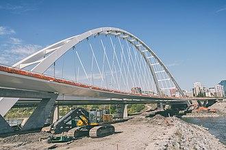 Walterdale Bridge - The new Walterdale Bridge nearing completion in August 2017