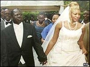 Michael Kijana Wamalwa - Wamalwa with Yvonne Nambia at their wedding