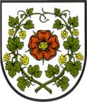 Das Wappen von Buckow (Märkische Schweiz)