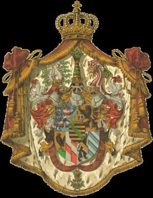 Saxe-Weimar-Eisenach - Image: Wappen Deutsches Reich Grossherzogtum Sachsen Weimar Eisenach