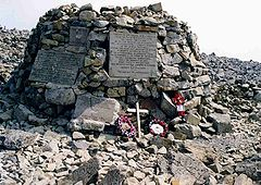 The summit war memorial, October 2006