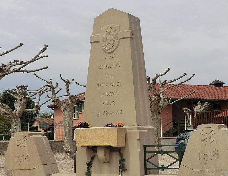 War memorial of Tramoyes.