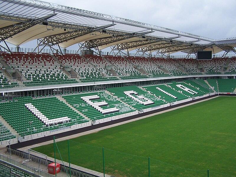Innenbereich des 2010 modernisierten Stadion Legias