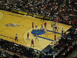 The Wizards in a home game against the Toronto Raptors, 30 March 2007