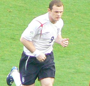 Rooney playing for England.