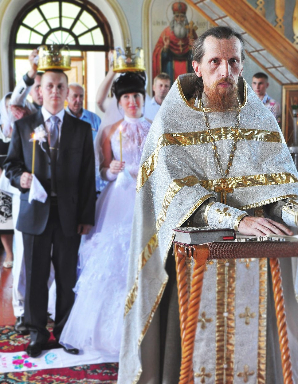 Wedding ceremony in the Orthodox Church of Valyava