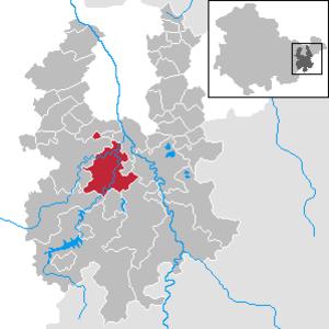 Weida, Thuringia - Image: Weida in GRZ