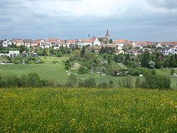 View towards Weil im Schönbuch near Tübingen