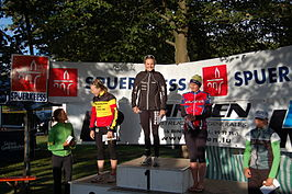 Liz May wint in 2007 de internationale triatlon van Weiswampach, dat dienstdeed als kampioenschap van Luxemburg